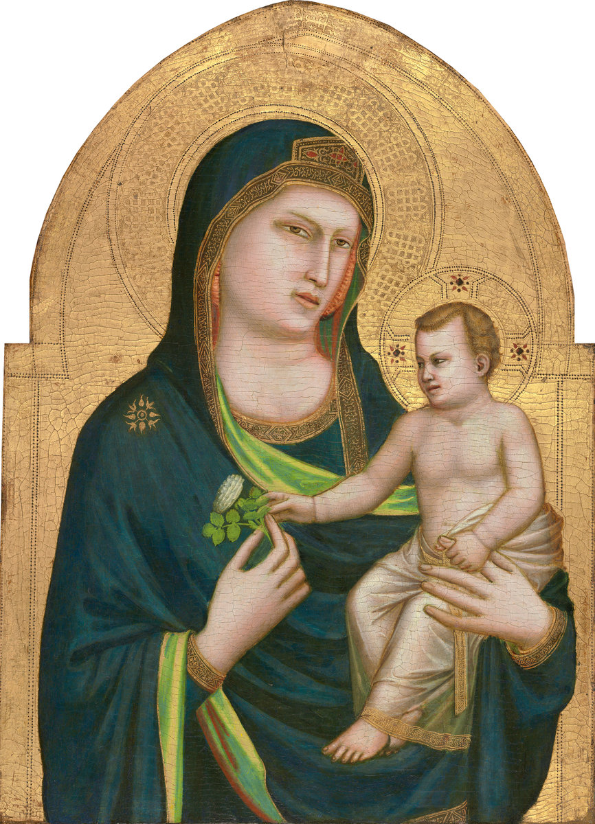 Giotto<br /><i>Madonna and Child</i>, probably 1320/30<br />Tempera on panel, 85.5 x 62 cm (33 11/16 x 24 7/16 in.)<br />National Gallery of Art, Washington, DC, Samuel H. Kress Collection<br />Image courtesy of the Board of Trustees, National Gallery of Art